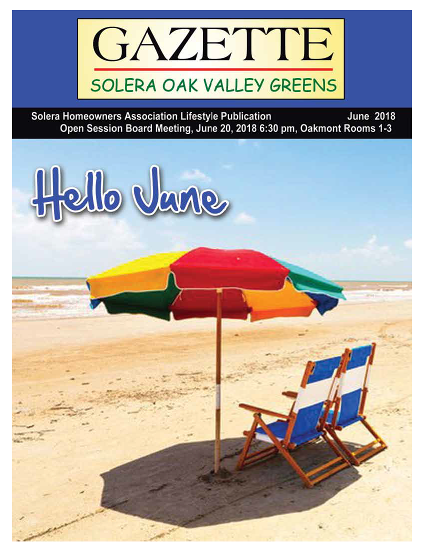 June 2018 Newsletter Cover