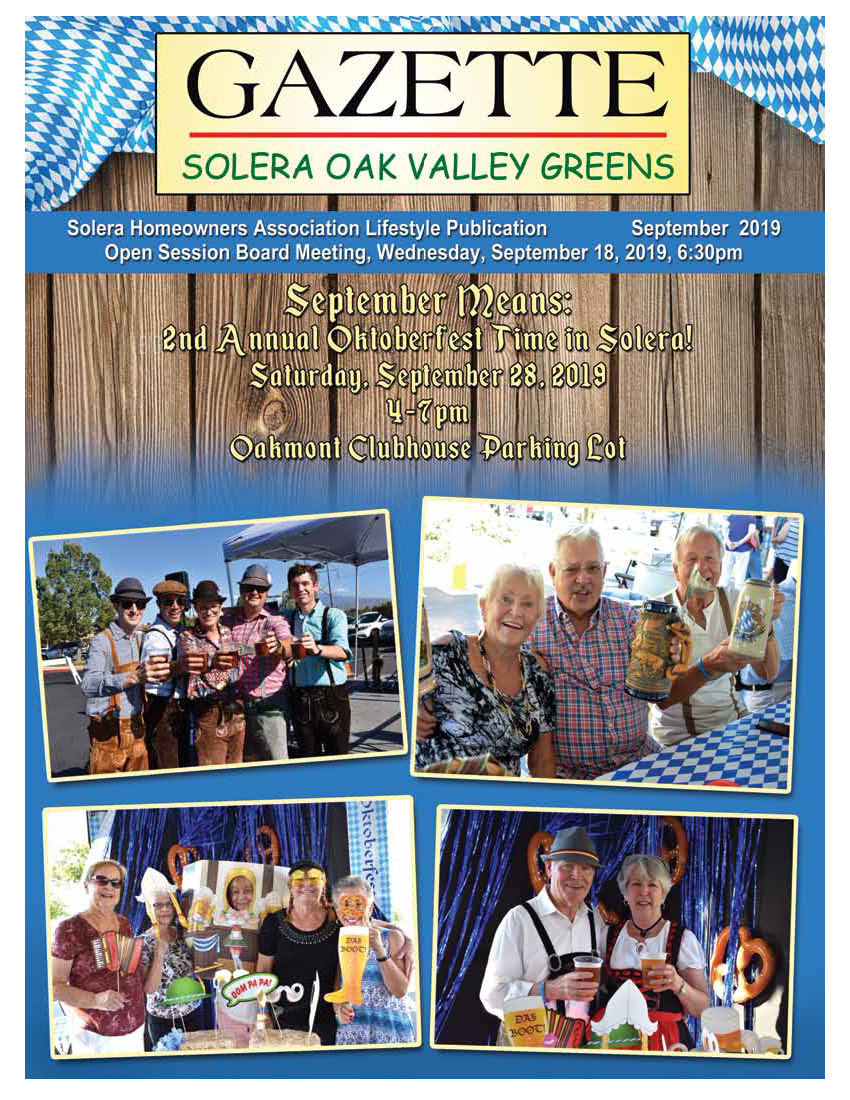 September 2019 Newsletter Cover